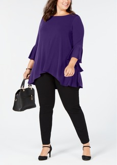 Alfani Plus Size Ruffled Bell-Sleeve Top, Created for Macy's