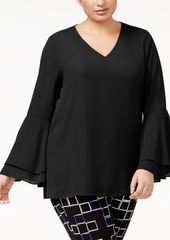Alfani Plus Bell-Sleeve Blouse, Created for Macy's