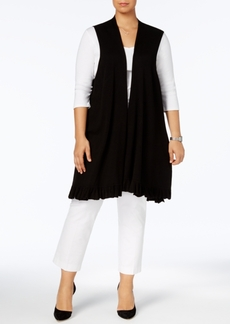Alfani Plus Size Ruffled-Hem Sweater Vest, Created for Macy's
