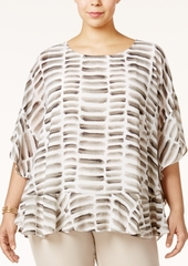 Alfani Plus Size Ruffled Poncho Top, Only at Macy's
