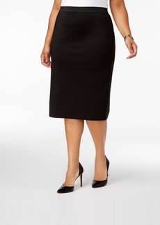 Alfani Plus Size Scuba Pencil Skirt, Created for Macy's
