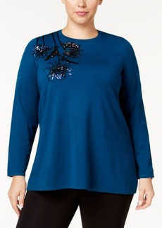 Alfani Plus Size Sequined Sweater, Created for Macy's
