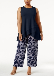 Alfani Plus Size Sheer-Hem Tunic, Only at Macy's