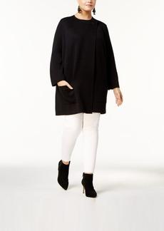 Alfani Plus Size Single-Button Sweater Coat, Created for Macy's