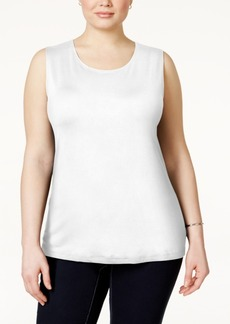 Alfani Plus Size Sleeveless Layering Tank, Only at Macy's