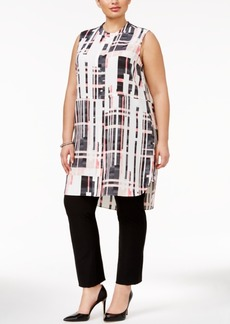 Alfani Plus Size Sleeveless Tunic Shirt, Only at Macy's