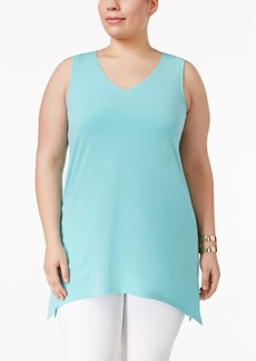 Alfani Plus Size Sleeveless V-Neck Tunic, Only at Macy's