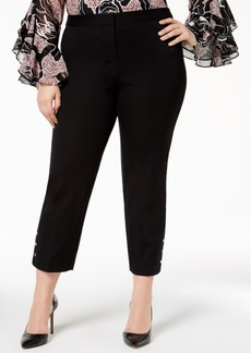 Alfani Plus Size Studded Ankle Pants, Created for Macy's