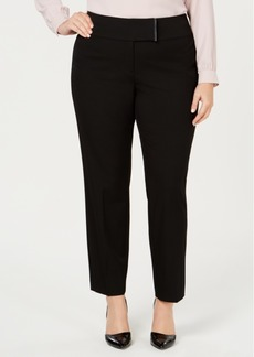 Alfani Plus Size Tab-Waistband Pants, Created for Macy's