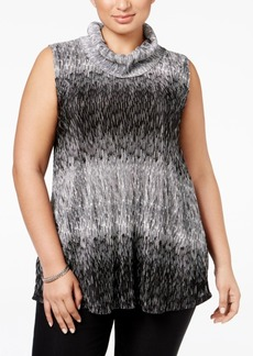 Alfani Plus Size Textured Cowl-Neck Top, Only at Macy's