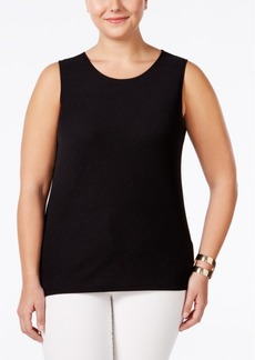 Alfani Plus Size Textured Layering Tank, Only at Macy's