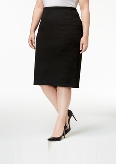 Alfani Plus Size Textured Pencil Skirt, Created for Macy's