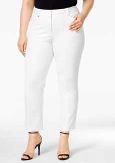 Alfani Plus Size Tummy-Control Cropped Pants, Only at Macy's