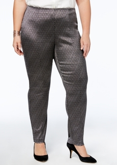 Alfani Plus Size Tummy-Control Skinny Pants, Created for Macy's