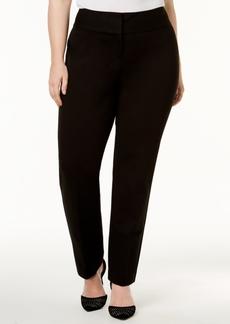 Alfani Plus Size Tummy-Control Slim-Leg Pants, Created for Macy's