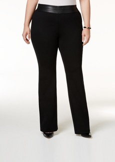 Alfani Plus Size Tummy-Control Trousers, Only at Macy's