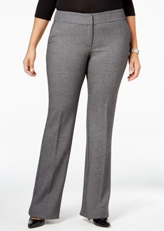 Alfani Plus Size Tweed Straight-Leg Trousers, Only at Macy's