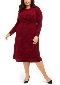 Alfani Plus Size Twist-Waist Dress, Created For Macy's