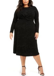 Alfani Plus Size Twist-Waist Dress, Created For Macy's
