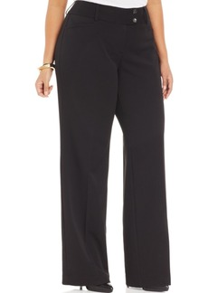 Alfani Plus Size Two-Button Bootcut Pants