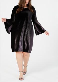 Alfani Plus Size Velvet A-Line Dress, Created for Macy's