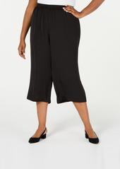 Alfani Plus Size Washed Satin Culottes, Created for Macy's
