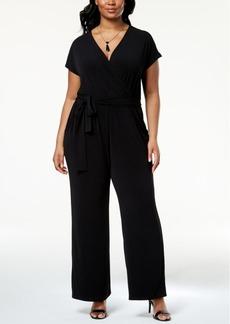 Alfani Plus Size Wide-Leg Jumpsuit, Created for Macy's