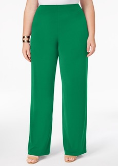 Alfani Plus Size Wide-Leg Soft Pants, Created for Macy's