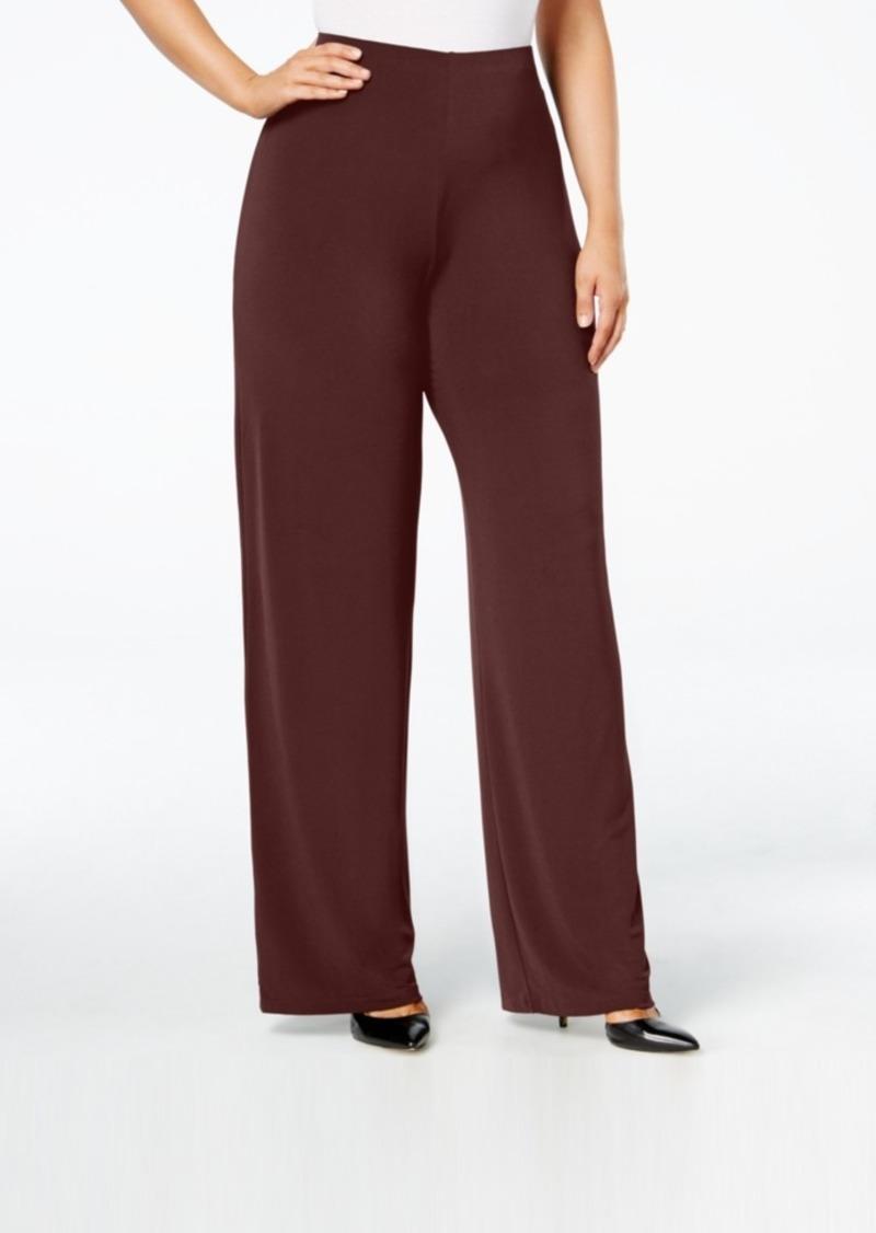1019bacec5463a Alfani Alfani Plus Size Wide-Leg Soft Pants, Created for Macy's ...