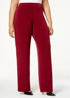Alfani Plus Size Wide-Leg Soft Pants, Created for Macy's