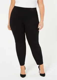 Alfani Plus Size Wide-Waist Pull-On Pants, Created for Macy's