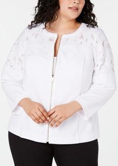 e67c9ad88493 Alfani Alfani Plus Size Animal-Print Jacket, Created for Macy's ...