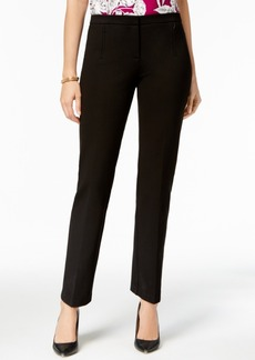 Alfani Ponte-Knit Zip-Pocket Pants, Created for Macy's