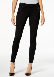 Alfani Ponte-Knit Zip-Pocket Skinny Pants, Created for Macy's
