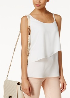Alfani Prima Asymmetrical Layered Top, Created for Macy's