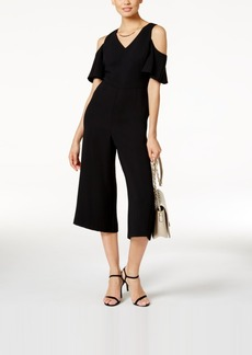 Alfani Cropped Cold-Shoulder Jumpsuit, Created for Macy's