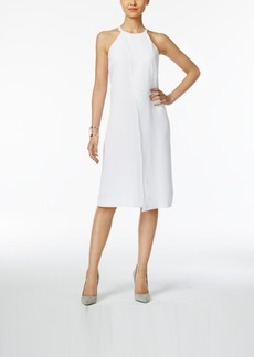 Alfani Prima Draped A-Line Dress, Only at Macy's