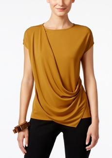 Alfani Prima Draped Top, Only at Macy's
