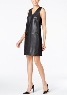 Alfani Prima Faux-Leather Dress, Only at Macy's