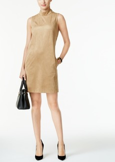 Alfani Prima Faux-Suede Shift Dress, Only at Macy's