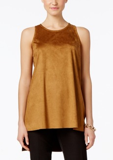 Alfani Prima Faux-Suede Tank Top, Only at Macy's