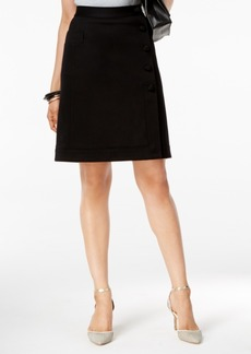 Alfani Prima Faux-Wrap A-Line Skirt, Only at Macy's