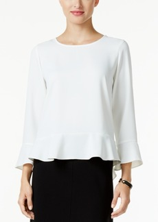 Alfani Prima Flutter-Hem Blouse, Only at Macy's