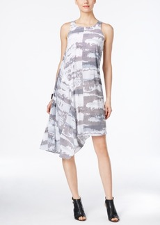 Alfani Prima Graphic-Print Asymmetrical Dress, Only at Macy's