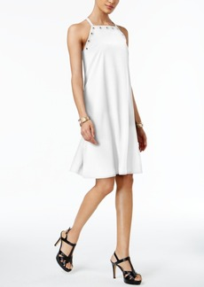 Alfani Prima Grommet-Trim A-Line Dress, Created for Macy's
