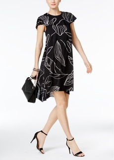 Alfani Prima High-Low Cape Shift Dress, Only at Macy's