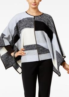 Alfani Prima Merino Wool Pattern Cape, Only at Macy's