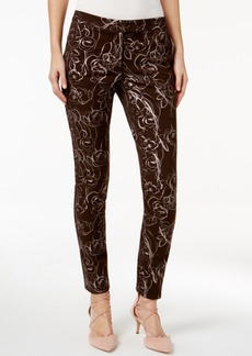 Alfani Prima Metallic Floral-Print Pants, Only at Macy's