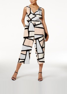 Alfani Prima Printed Cropped Jumpsuit, Only at Macy's