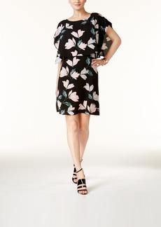 Alfani Prima Printed Popover Shift Dress, Created for Macy's